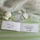 Hochzeitseinladung Tamara weiß-grün geöffnet
