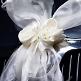 Autodeko Hochzeit Girlanden Creme