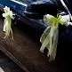 Autoschleife Tüll grün
