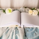 Gästebuch Hochzeit Luxor, weiß-creme