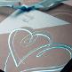 Hochzeitseinladung Isabella grau türkis