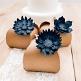 Tischdeko Hochzeit Papier Blueten Dunkelblau