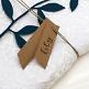 Namenskarten Hochzeit Kraftpapier Rosa