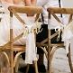 Stuhlschilder Hochzeit Schriftzuege Gold
