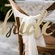 Stuhlschilder Hochzeit Gold