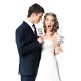 Photo Booth Accessoire Schilder Mr und Mrs