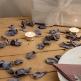 Rosenblätter Lavendel dekoriert Tisch