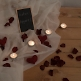 Rosenblätter bordeaux klein deko