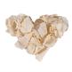 Rosenblätter creme klein herz