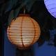 Hochzeitsdeko LED Lampion Orange Klein