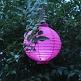 Raumdeko Hochzeit LED Lampion Pink