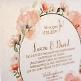 Hochzeitseinladung Irene Detail