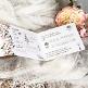 Hochzeitseinladung Rosalie Detail der Innenansicht