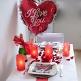 Tischlichter Herzen, rot, 5 St. - Dekobeispiel