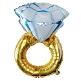 Ballon Verlobungsring in Blau
