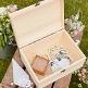 Hochzeitsbox aus Holz mit Schriftzug