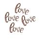 Tischkonfetti Hochzeit Love, roségold