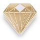 Gastgeschenk Verpackung Diamant Gold