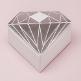 Gastgeschenk Box Diamant Silber