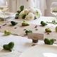Tischläufer für die Hochzeit aus Jute mit Deko