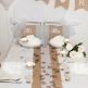 Hochzeitsdeko Set Natural Wedding, Weiß