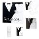 Gästebuch Hochzeit Black & White, Mr & Mrs, mit Brautpaar, quadratisch - in Serie