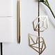Tischkonfetti / Geschenkanhänger Diamant, gold, 5 Stück