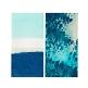 Servietten mit maritimem Wasserfarben Muster in Blau
