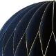 Wabenball mit Glitzer Detail, navyblau
