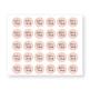 Sticker Vielen Dank, rosa, grau, freigestellt