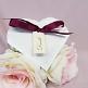 Gastgeschenk Hestia, grau, bordeaux, Vintage, Hochzeit Taufe, Kommunion