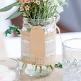 Deko-Glas Vintage mit Jute und Spitze, 6,5 x 12 cm