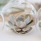Hängedeko Glaskugel zum Befüllen, 4 Stück, 10 cm
