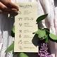Programmkarte für die Hochzeit Kraftpapier 21 x 10 cm