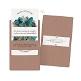 Hochzeitseinladung Namika aus Aquarell und Kraftpapier mit Blätter und Farn Motiv in Blau und Grün Detail