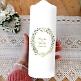 Hochzeitskerze Scandi Chic mit Eukalyptus