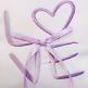 Ringkissen Love, lila flieder, weiß