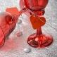 Herz-Dekoanhänger in Bordeaux zur Hochzeit - Dekobeispiel