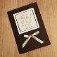 DIY- Karte Glückliches Brautpaar, braun