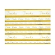 Artoz Kreativpapier Danke A4, selbstklebend gold