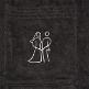 Brautpaar Stitching auf dem Bademantel