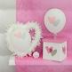 Ballons Love Love, rosa, 8 St. - Hochzeitsballons mit Herzen