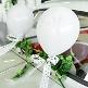 Dezente Hochzeitsballons mit Taubenpaar