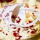 Blumenkörbchen Burgund liegend