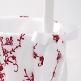 Blumenkörbchen Burgund gestickt - Bei der Hochzeit