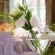 Blumenvase Herz am Stiel, dekoriert