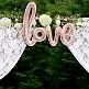 Folienballon Schriftzug love, roségold, Hintergrund