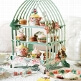 Cupcake Deko-Set mit Vogeldruck- Dekobeispiel