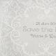 Dankeskarte zur Hochzeit mit Vintagespitze