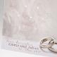Hochzeitseinladung Kylie in der Detailansicht mit rosa Rosenmotiv